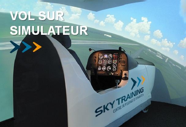 stage d 39 initiation au pilotage sur simulateur de vol professionnel nantes sky training. Black Bedroom Furniture Sets. Home Design Ideas